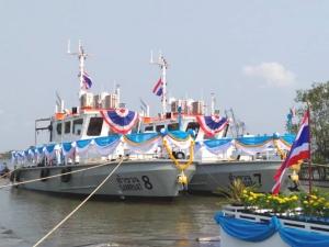 กทท. จัดพิธีปล่อยเรือสำรวจ 7 และเรือสำรวจ 8 ลงน้ำ  เพิ่มประสิทธิภาพการให้บริการ และความปลอดภัยในการเดินเรือ