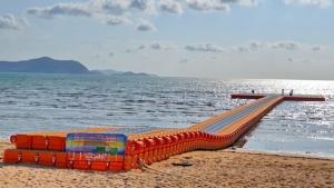ทต.นาจอมเทียน ทุ่ม 37 ล้านทำทุ่นลอยในทะเลสร้างแลนด์มาร์คใหม่ อ.สัตหีบ จ.ชลบุรี