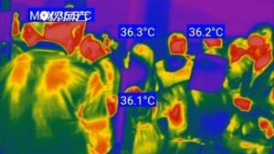 หมวกกันน็อกสุดล้ำช่วยตำรวจจีน ตรวจอุณหภูมิคนนับร้อยใน 1 นาที!
