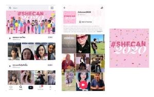 TikTok รับวันสตรีสากลโลก เพิ่มพลังบวกผ่านแคมเปญ #shecan2020