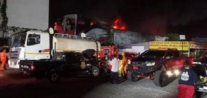 ไฟไหม้โรงงานผลิตสีรถยนต์ ซ.รามคำแหง 201 ย่านมีนบุรี