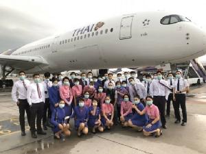 การบินไทยรับนักเรียนแลกเปลี่ยนและคนไทยกลับจากอิตาลีเรียบร้อย