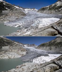 ธารน้ำแข็งกับอุณหภูมิของโลกเมื่อหลายล้านปีก่อน