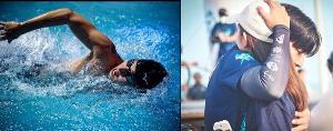 """ยังไงก็ต้องมา!! """"ณิชา"""" สวมกอด """"โตโน่"""" ส่งกำลังใจว่ายน้ำข้ามเกาะวันแรก"""