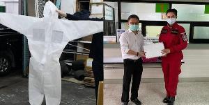 """ร่วมด้วยช่วยกัน! """"บุ๋ม ปนัดดา"""" บริจาคชุด PPE ให้สถาบันบำราศนราดูร เพื่อใช้ดูแลผู้ป่วยโควิด-19"""