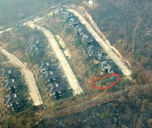"""""""บ้านป่าแหว่ง"""" ไหม้แล้ว! ไฟป่าเหนือห้วยตึงเฒ่าล้อมวง"""
