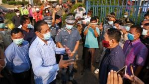 """ชายแดนไทย-กัมพูชาป่วน! ผู้ว่าฯสุรินทร์สั่งปิด""""ด่านช่องจอม""""พร้อมตลาด หลังพบป่วยโควิด-19รวด 3 ราย"""