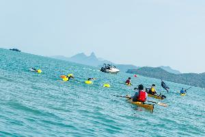 """""""โครงการ ONE MAN & THE SEA หนึ่งคนว่าย หลายคนช่วย"""" กับกิจกรรมว่ายน้ำพิชิต 12 เกาะ สุราษฎร์ – สมุย"""