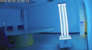 """นวัตกรรมหุ่นยนต์ฆ่าเชื้อโรคด้วยแสงยูวี หรือ """"Germ Saber Robot"""""""