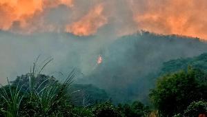 ผีซ้ำด้ำพลอย..ไฟป่าไหม้ข้ามคืน เปลวเพลิงลุกโชนเต็มดอยจระเข้แม่จัน-ดอยปุยใกล้เมืองเชียงราย