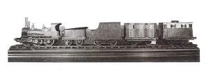 รถไฟจำลองบรรณาการ ปัจจุบันแสดงอยู่ที่พิพิธภัณฑ์สถานแห่งชาติ พระนคร