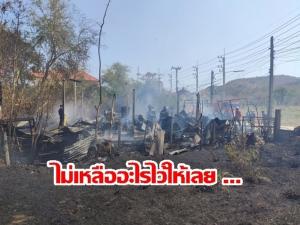 เกิดเหตุไฟไหม้บ้าน 3 แม่ลูก ซอยวัดพุทธไชโย หัวหิน รอดตายหวุดหวิด