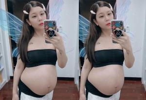 """แม่สวย """"กุ๊บกิ๊บ สุมณทิพย์"""" อัปเดตตั้งท้อง 8 เดือน ออร่าเจิดสุดๆ"""