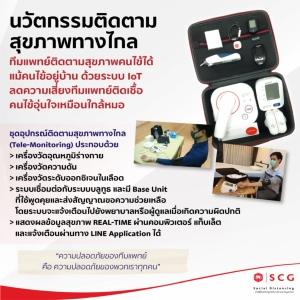 """นวัตกรรมสู้โควิด-19! เอสซีจีผุด """"Tele-Monitoring"""" ปกป้องทีมแพทย์ เสริมความปลอดภัยคนไข้"""