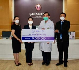 ช.การช่าง มอบเงินจัดซื้อเครื่องมือแพทย์ ช่วยผู้ป่วยติดเชื้อโควิด-19