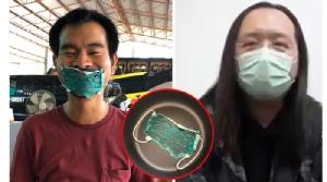 """หนุ่มไทยฆ่าเชื้อมาสก์ด้วยหม้อหุงข้าว ตามที่ """"ออเดรย์ ถัง"""" แนะนำ ผลออกมาเป็นแบบนี้"""
