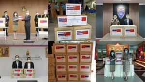 สถานทูตจีนระดมบริจาคเวชภัณฑ์ให้แก่หน่วยงานต่างๆ ในไทย
