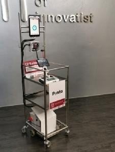 """โฉมหน้าหุ่นยนต์ """"Pinto"""" เคลื่อนที่รอบตัวคนไข้บนเตียงได้ ผู้ช่วยแพทย์ในสถานการณ์โควิด-19 ระบาด"""
