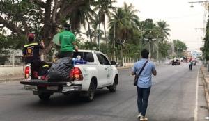เมืองเพชรสนธิกำลังฉีดพ่นน้ำยาฆ่าเชื้อโรคป้องกันไวรัสโคโรนา-2019
