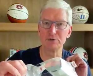 Tim Cook ประธานเจ้าหน้าที่บริหารแอปเปิลแถลงผ่านวิดีโอบนทวิตเตอร์