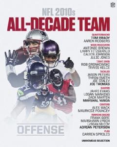 "NFL คลอดทีมแห่งทศวรรษ ""เบรดี-พีเตอร์สัน"" ติดโผเอกฉันท์"