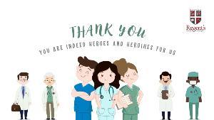 ร.ร. นานาชาติรีเจ้นท์กรุงเทพฯ เผยคลิปวีดิโอส่งกำลังใจ-ขอบคุณ บุคลากรทางการแพทย์สู้วิกฤตโควิด-19