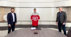 """""""มุลเลอร์"""" เปิดตัวแบบ """"Social Distancing"""" ต่อสัญญาถึง 2023"""