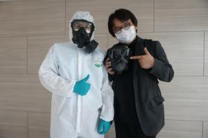 ต่อยอดงานวิจัย อ.อ๊อด ใช้หน้ากากกันพิษทางทหารให้แพทย์กู้วิกฤตโควิด-19