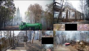 หลักฐานชัด! พรานป่าพะเยาจุดไฟเผา ก่อนลามไหม้ศาลาวัดอนาลโยฯวอด