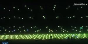 """(ชมคลิป) จีนปล่อยกองทัพโดรนแสดงแสงสีตระการตา ฉลอง """"เปิดอู่ฮั่น"""""""