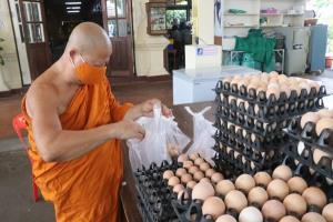 อาจารย์แดง เกจิดังเมืองกรุงเก่ามอบไข่ไก่ 5,000 ฟอง ในวันสงกรานต์