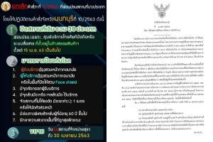 จ.นนทบุรี ออกประกาศใหม่ ยกเลิกผ่อนปรน 38 สถานที่ เว้นศูนย์โทรศัพท์ในห้าง