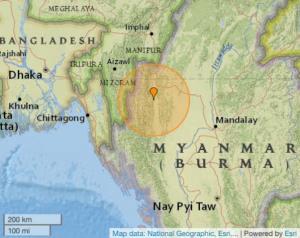 พม่าแผ่นดินไหว 5.9 รับรู้แรงสะเทือนไกลถึงบังกลาเทศ