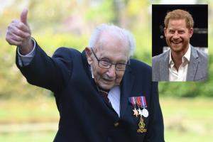 """In Clip : เจ้าชายแฮร์รีตรัสชม """"คุณปู่อังกฤษ"""" วัยเฉียดร้อยอดีตทหารผ่านศึก WWII ระดมทุน 25 ล้านปอนด์ ช่วยหมอพยาบาลสู้โควิด-19"""