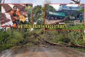 อ่วม! พายุฝนถล่มหนองบุญมาก โคราช โค่นต้นไม้ใหญ่ปิดถนน ทับบ้านเรือน-รถยนต์เสียหายอื้อ บาดเจ็บ 2