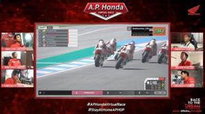 """""""ก๊องส์ ธัชกร"""" ซิวแชมป์สนามแรกศึกบิดออนไลน์ A.P. Honda Virtual Race"""