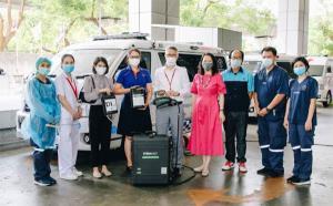 คลีนเอ็นไวรอนเมนทัลโซลูชั่นส์ ส่งมอบเครื่องฉีดพ่นฆ่าไวรัสโควิด19 พร้อมน้ำยาให้โรงพยาบาลจุฬาลงกรณ์