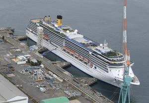 ญี่ปุ่นผวาซ้ำ!! เรือสำราญอิตาลีจอดซ่อมที่ 'นางาซากิ' มีลูกเรือติดเชื้อโควิด 33 ราย