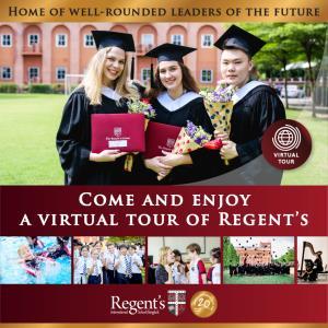 """ร.ร.นานาชาติรีเจ้นท์กรุงเทพฯ จัด """"School Tour"""" แบบออนไลน์ชมบรรยากาศโรงเรียนนานาชาติระบบอังกฤษแบบ 360 องศา"""