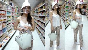 """สวยแพง! ส่องลุคเดินซูเปอร์มาร์เก็ตของสาว """"คิมเบอร์ลี่"""" แค่หมวก+กระเป๋าก็เกือบ 2 หมื่นแล้ว"""