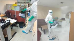 กกต.เร่งทำความสะอาดฆ่าเชื้อโควิด-19 ที่สำนักวินิจฉัยและคดี หลังพบพนักงานติดเชื้อ