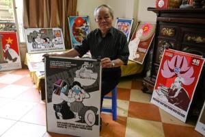 ไปดูเวียดนามรณรงค์สู้โควิดสไตล์คอมมิวนิสต์ผ่านโปสเตอร์โฆษณาชวนเชื่อ