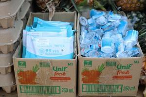 แจกวันสุดท้าย ทม.หัวหิน แจกข้าวกล่องอาหารแห้งในโครงการชาวหัวหินรวมใจสู้ภัยโควิด-19 คึกคัก