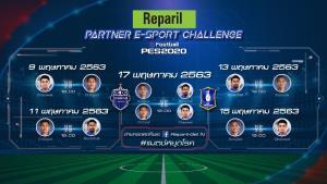 """บุรีรัมย์-บีจี ส่งแข้งดังดวลลูกหนังออนไลน์ """"Reparil Partner E-sport Challenge"""""""