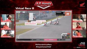 """""""ก้องส์-ธัชกร"""" คว้าแชมป์สนาม 3 ผงาดจ่าฝูง A.P. Honda Virtual Race"""