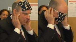งามหน้า! รองนายกรัฐมนตรีเบลเยียมสวมหน้ากากผ้าป้องกันโควิด-19 ไม่เป็น (ชมคลิป)