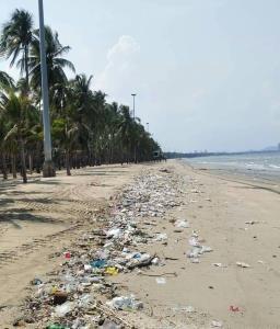 ปรี๊ด! นายกตุ้ยสุดทน ขยะเกลื่อนหาดบางแสนทั้งที่เพิ่งเปิดพื้นที่ไม่นาน ชี้คนไม่เปลี่ยนพฤติกรรม