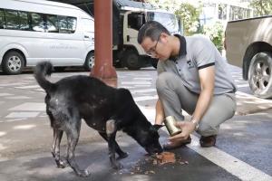 คนรักสัตว์สะเทือนใจ หลังแชร์คลิปใช้รองเท้าตีปากน้องหมา