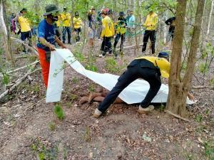 ลุงยามรีสอร์ตดังเมืองกาญจน์ ขับขี่จักรยานยนต์เข้าป่าสลักพระหายข้ามวัน สุดท้ายกลายเป็นศพ เหตุถูกช้างป่าทำร้ายจนหน้ายุบ ขาผิดรูป