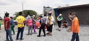 รถบรรทุกพ่วงฝ่าไฟแดงบายพาสเสาไห้  จ.สระบุรี พุ่งชนรถพยาบาลสาวดับคาที่